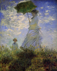 Woman with a parasol (Camille Monet and son Jean)