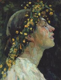 """Женская голова. Этюд к картине """"Весна-красна"""""""