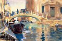 Джон Сингер Сарджент. Мост Понте-Сан-Джузеппе-ди-Кастелло в Венеции