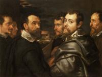Self-portrait in a circle of friends from Mantua