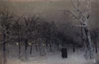 Бульвар зимой