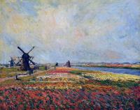 Claude Monet. Field of tulips and windmill near Leyden
