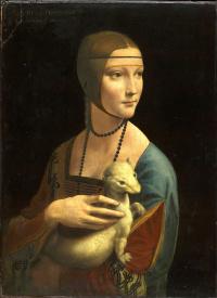 Lady with an ermine. Cecilia (Cecilia) Gallerani