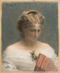 Etude. Portrait Of Charlotte Dubourg