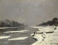Клод Моне. Льдины на Сене в Буживале