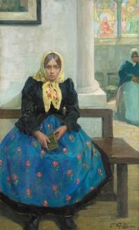 The girl in the Church