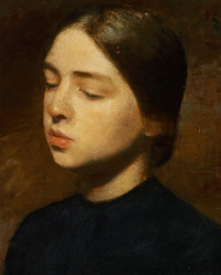 Portrait of Anna Hammershoy, artist's sister