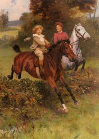 Впервые на лошади