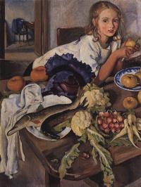 Катя с натюрмортом
