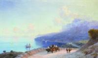 A sea shore. The Crimean coast from ay - Petri