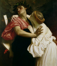 Сэр Фредерик Лейтон. Орфей и Эвридика. 1864
