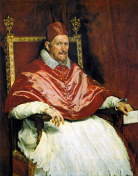 Diego Velasquez. Portrait Of Pope Innocent X