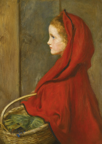 Red riding hood. A Portrait of Effie Millais, the artist's daughter