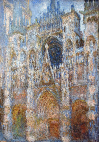 Rouen Cathedral, the portal; harmony blue