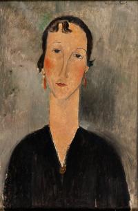 Portrait of woman with earrings