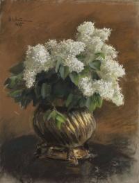 Isaac Levitan. White lilac