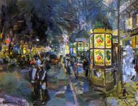 Konstantin Korovin. Paris Boulevard at night