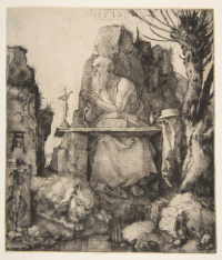 St. Jerome under a willow tree