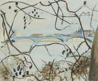 Куно Амье. Пейзаж с мостом, Золотурн