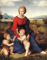 Madonna in green (Madonna in the meadow or Belvedere Madonna)