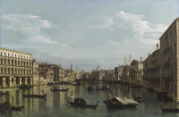 Venice, view of Grand canal