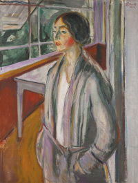 Young woman on the veranda