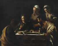Микеланджело Меризи де Караваджо. Ужин в Эммаусе