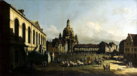 Bernardo Bellotto. The area of the New market in Dresden