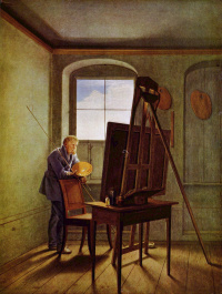 Каспар Давид Фридрих в своей студии