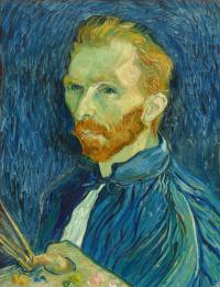 Винсент Ван Гог. Автопортрет (с кистями и палитрой 1888)