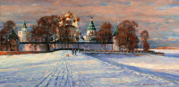 Ipatiev monastery.Oil on canvas 55,1 # 110,3 cm 2011