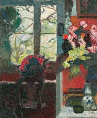 Куно Амье. Интерьер с букетами цветов