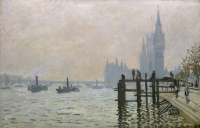 Claude Monet. The Thames at Westminster