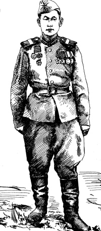 Scout Sasha Sagalakov. Veteran 1941-45.