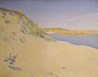 Поль Синьяк. Песчаный берег моря в Сен-Бриаке