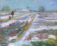 Винсент Ван Гог. Снег на полях близ Арля
