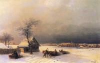 Иван Константинович Айвазовский. Москва зимой. Вид с Воробьевых гор