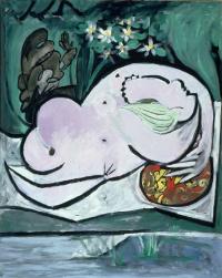Пабло Пикассо. Обнаженная в саду