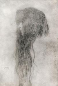 Профиль девушки с длинными волосами