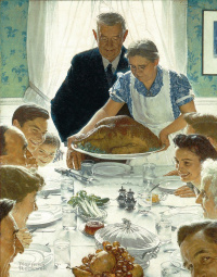 Norman Rockwell. The four freedoms. Freedom from want