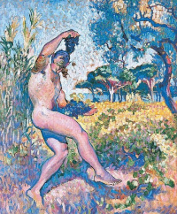 Study for Wildlife. The man with the cluster