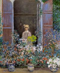 Клод Моне. Камилла Моне у окна, Аржантёй