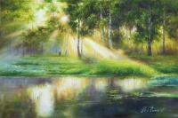 Утреннее солнце в березах