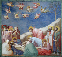 Lamentation of Christ. Scenes from the life of Christ