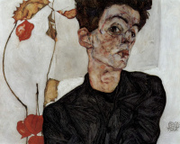 Self-portrait with Physalis