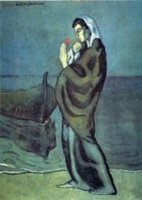 Мать и дитя на побережье