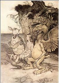 "Illustration for the tale ""Alice in Wonderland"""