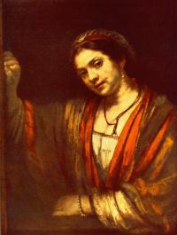 Рембрандт Ван Рейн. Хендрикье у окна
