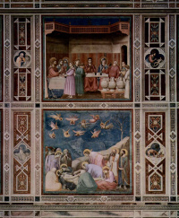Фрески: Брак в Кане. Оплакивание Христа. Сцены из жизни Христа