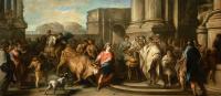 Тесей укрощает быка